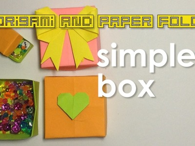 Paper Fold - Simple Box with Lid for Kids, Tweens & Teens - Traditional - Gift Box, Small Storage