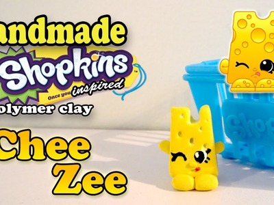 Season 1 Shopkins: How To Make Chee Zee Polymer Clay Tutorial!