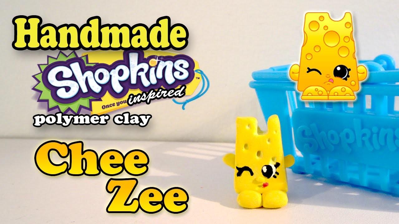 Season 1 Shopkins: How To Make Chee Zee Polymer Clay Tutorial!
