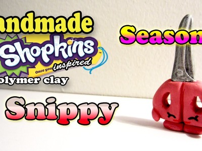 Season 3 Shopkins: How To Make Snippy Polymer Clay Tutorial!