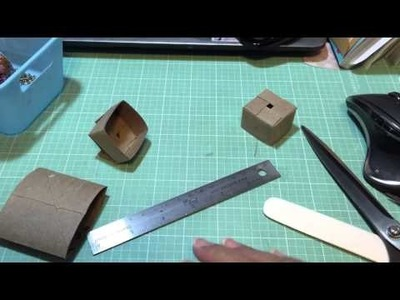 Tutorial for Box made from a Toilet Paper Roll