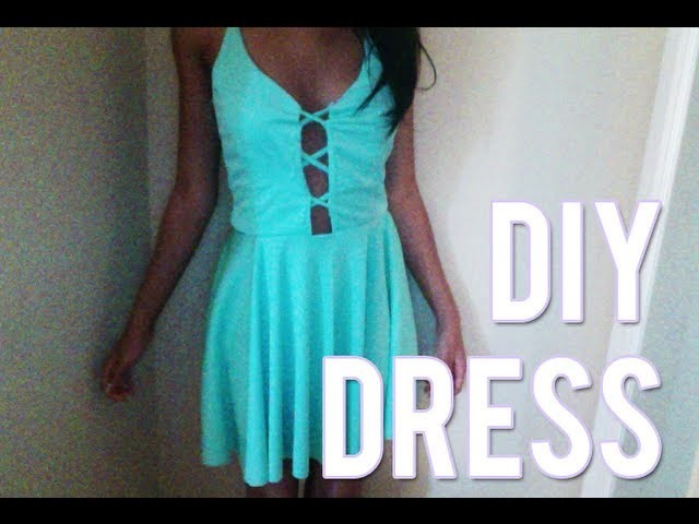 DIY Criss Cross Nastygal Lace Up Style Dress (Sewing)