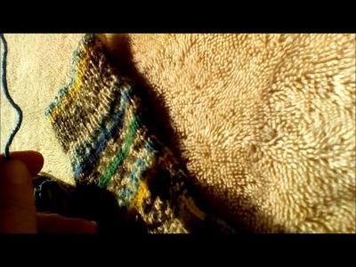 Getting a true pair of socks using self patterning yarn