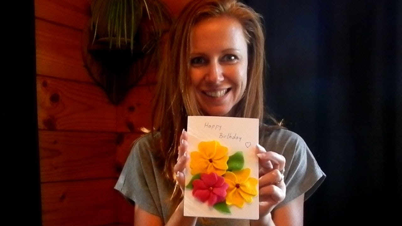How to make a handmade birthday card with flowers