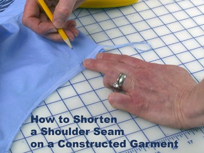 J Stern Designs l Quick Tip: How to Shorten the Shoulder Seam on a Constructed Garment