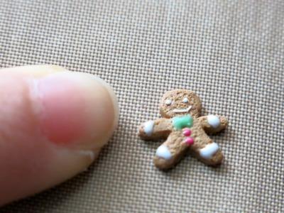 Miniature Gingerbread Man - Christmas Polymer Clay Tutorial