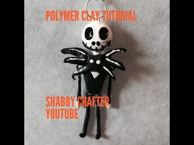 Polymer clay Jack skellington charm tutorial