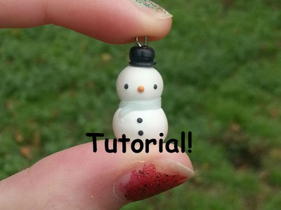 Polymer Clay Kawaii Snowman Charm Tutorial