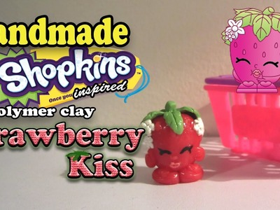 Season 1 Shopkins: How To Make Strawberry Kiss Polymer Clay Tutorial!