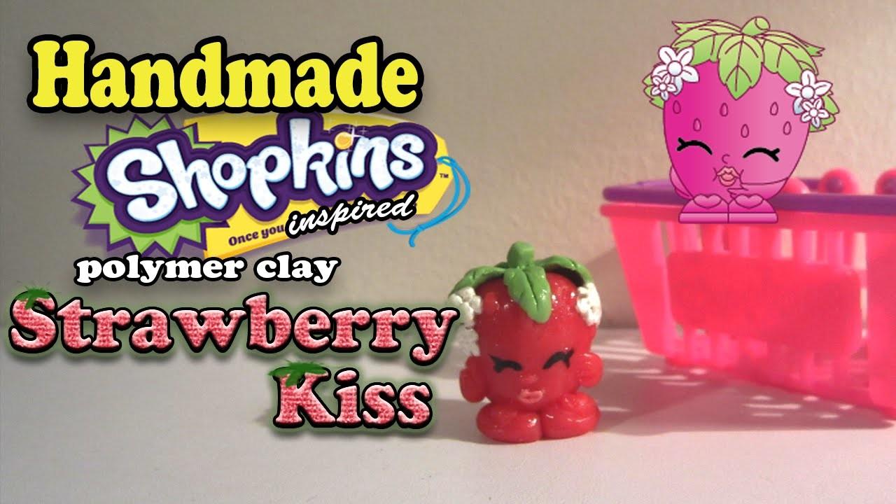 Season 1 Shopkins: How To Make Strawberry Kiss Polymer Clay Tutorial!