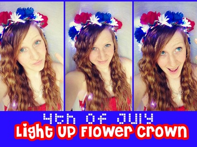4th of July LIGHT UP Flower Crown