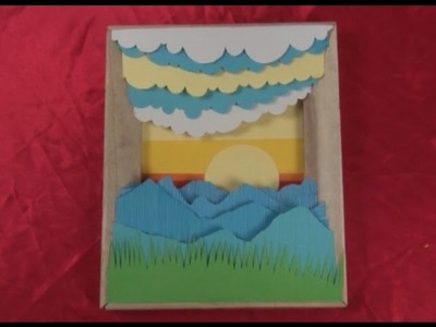 Art Lesson: How To Make A 3D Framed Paper Craft Scene