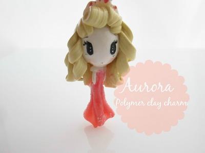 Aurora Polymer Clay Charm Chibi
