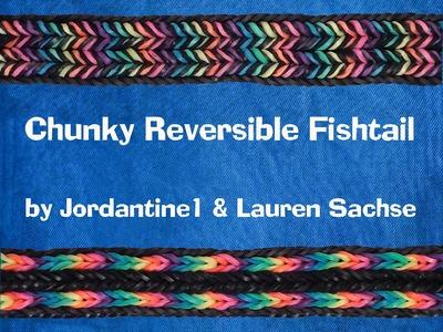 Chunky Reversible Fishtail Bracelet - Monster Tail - Rainbow Loom