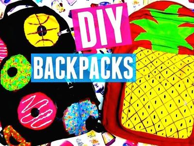 DIY BACKPACKS: Donuts & Pineapple | Back to School 2015