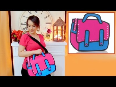 DIY crafts easy 2d cartoon bag handmade- tutorial - youtube - Isa ❤️