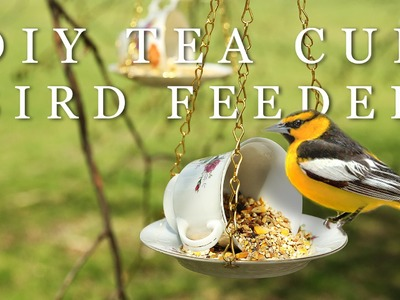 DIY MOTHER'S DAY GIFT | TEA CUP BIRD FEEDER