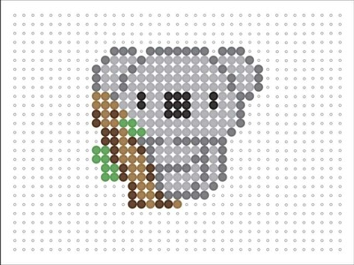Hama Bead koala (Animal Series 2 #3)