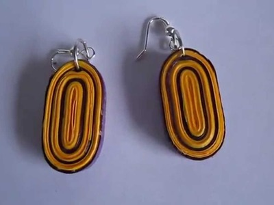 Handmade Jewelry - Paper Quilling Oval Earrings