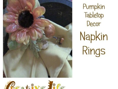 How to Make a Fall Floral Napkin Ring by Linda Peterson