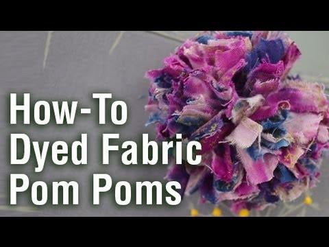How to make a tie-dyed fabric pom pom