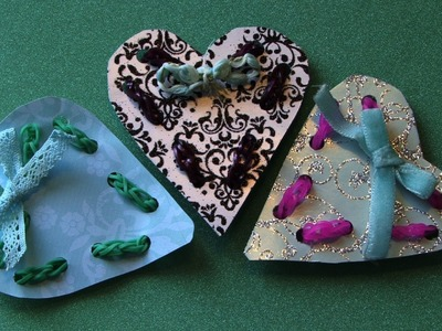 HOW TO MAKE RAINBOW LOOM EASY HEART CARD