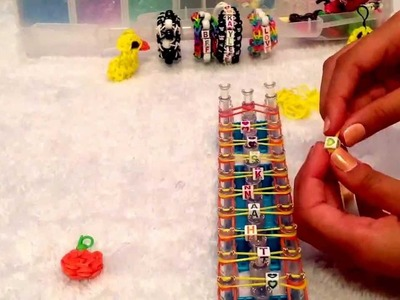 How to: NEW Rainbow Loom Beaded Double Bracelet!!