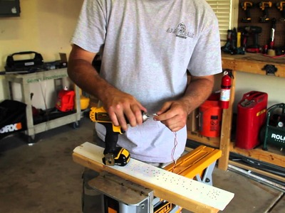 How to strand wire using a drill