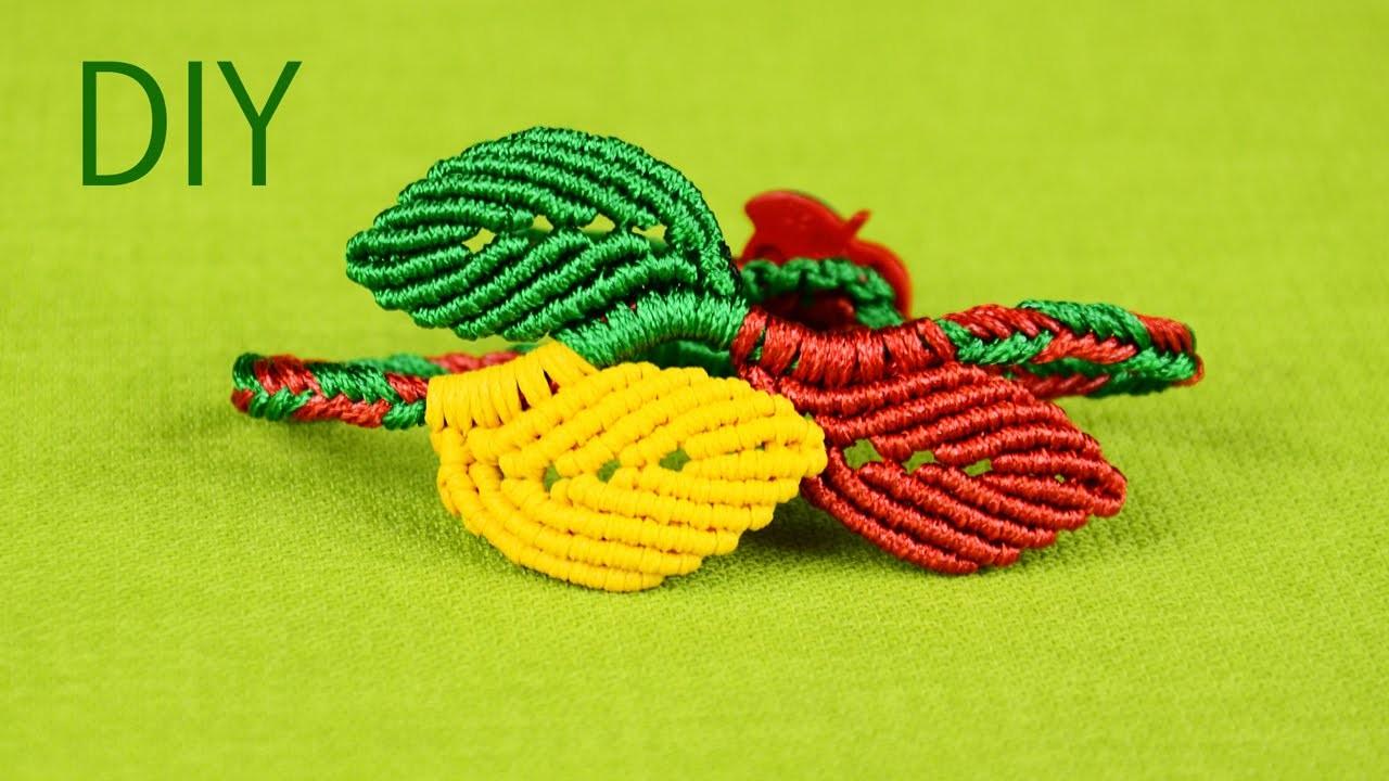 Macramé Leaf Bracelet - Tutorial