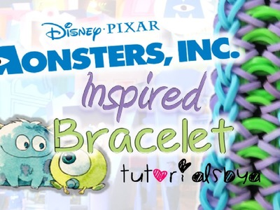 NEW Monsters Inc.  University Inspired Rainbow Loom Bracelet Tutorial   How To