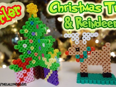 Perler Bead 3D Christmas Tree and 3D Reindeer Tutorial