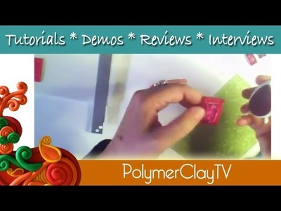 Polymer Clay Tutorial Create Curved Bracelet Links with polymer clay and image transfer