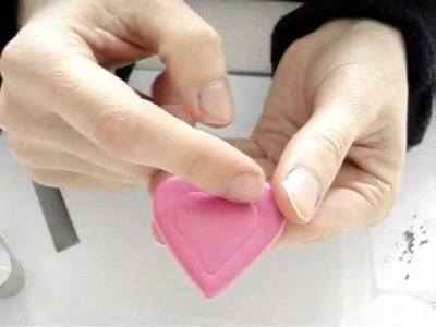 Polymer Clay Tutorial: Tarina Tarantino Inspired Pink Heart Ring (Or Pendant) with Rhinestones
