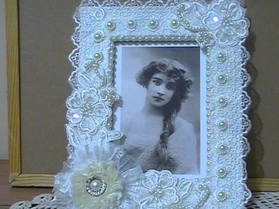 Shabby Chic altered photo frame Trash to Treasure Challenge on The Craft Hole on FB