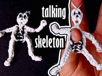Skelbo - The Rainbow Loom Talking Skeleton Puppet Charm Tutorial