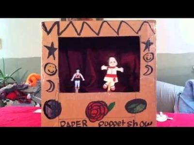 Aidan's paper puppet show