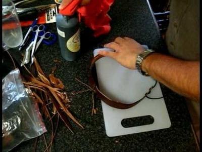 Australian Bushcraft. Making a hatband. Part 2.