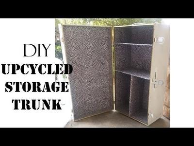 DIY Upcycled Storage Trunk- SugarStilettosStyle