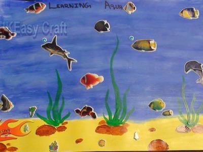 Draw Under water scene | School Project  For Kids | JK Easy Craft 014