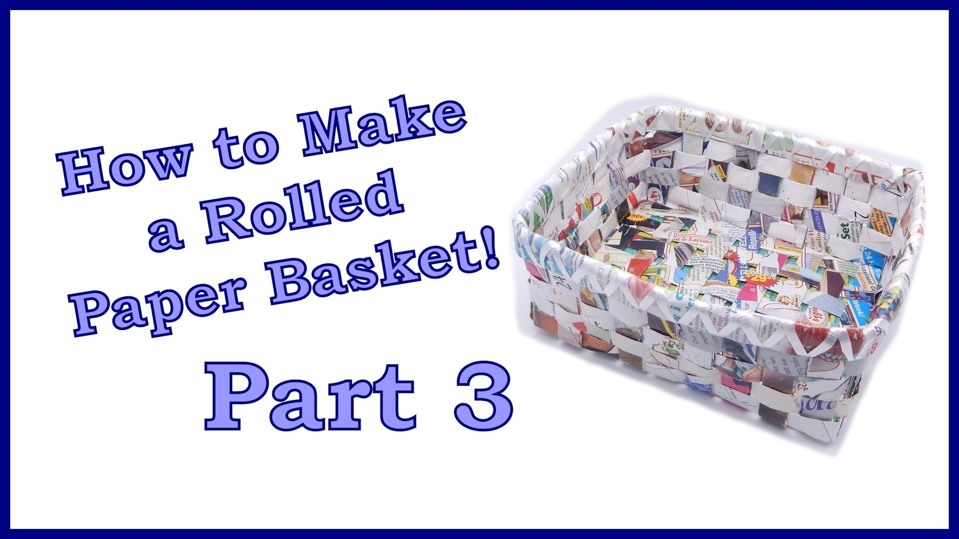 How to Make a Rolled Paper Basket Part 3 of 6. Weaving the Bottom