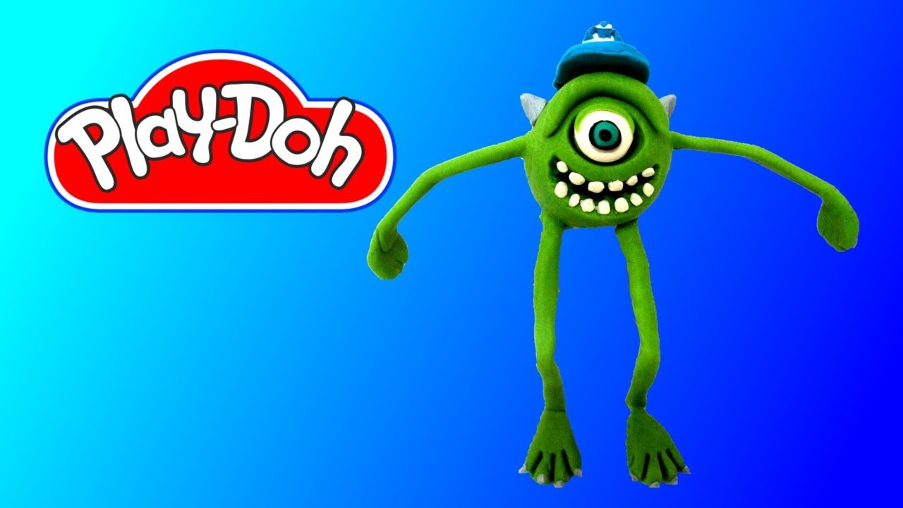 How to make Play Doh Mike Monsters, Inc. Play-Doh Craft N Toys