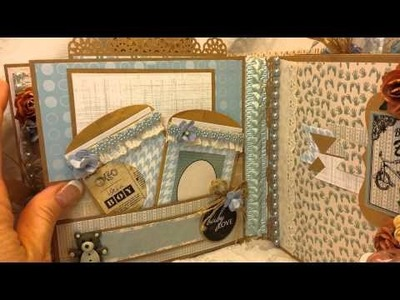 Kaiser Craft Baby Boy 6x6 Mini Album for Angelica's Little Scrap Shop on Etsy