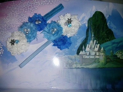 Shabby chique FROZEN themed flower tutorial***New Updated video***