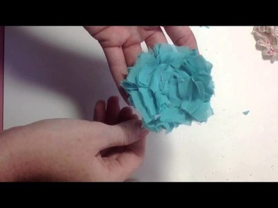 Shabby Rosette Flower Tutorial
