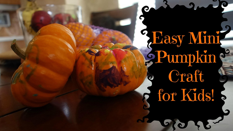 Simple Mini Pumpkin Craft for Kids!