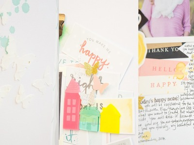 3 Layouts in one go: A scrapbooking Process video by Wilna