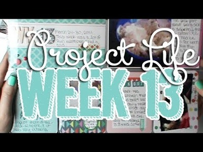 380: Week 13 Project Life 2014 Scrapbook Process using Happy Edition Core Kit