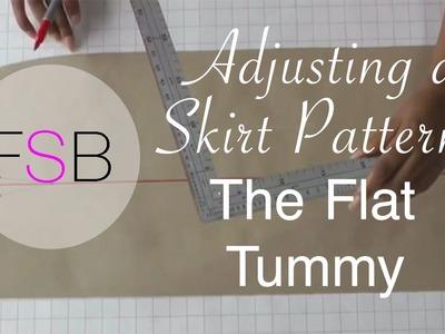 Adjusting a Skirt Pattern - The Flat Tummy