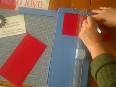 "CM #59 - How to Cut 4 Square Cards, 4"" x 4"" from 12"" Scrapbook Cardstock (Be My Valentine)"