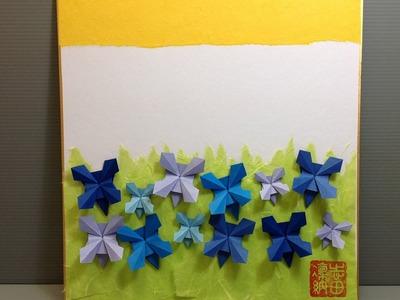 Cornflowers - How to Make an Origami Display Shikishi